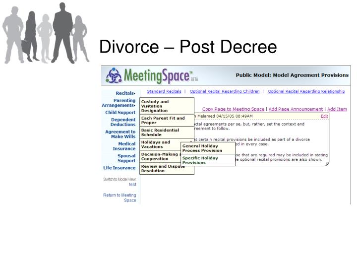 Divorce – Post Decree