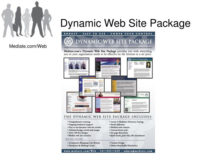 Dynamic Web Site Package