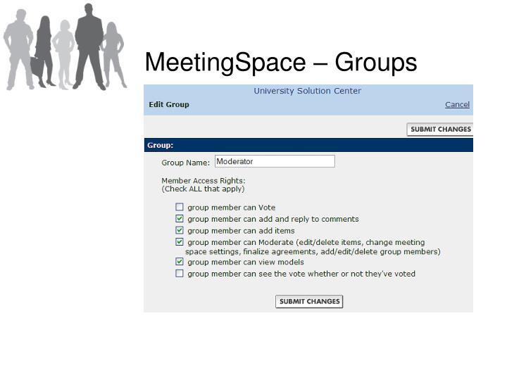 MeetingSpace – Groups