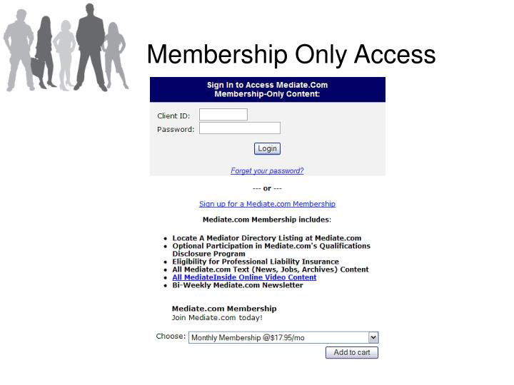Membership Only Access