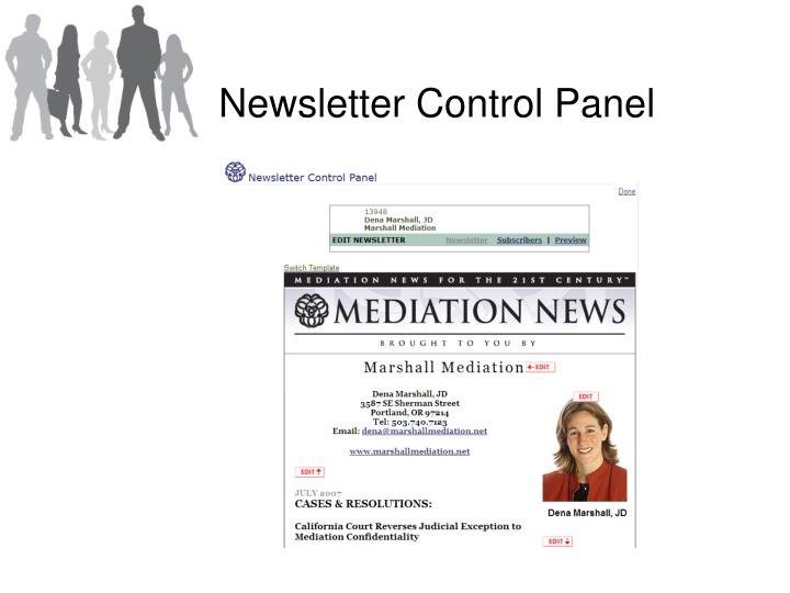 Newsletter Control Panel