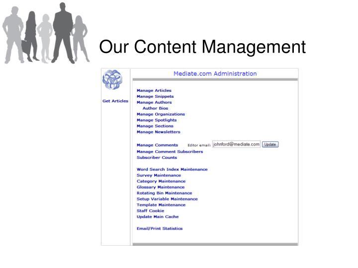 Our Content Management