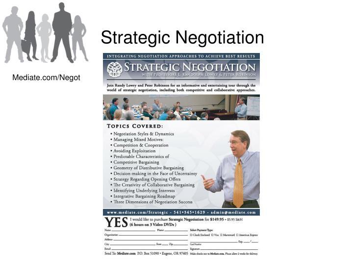 Strategic Negotiation