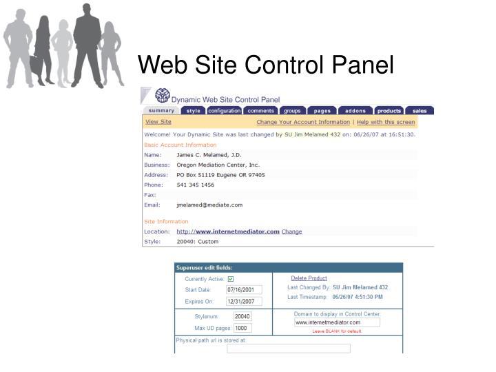 Web Site Control Panel