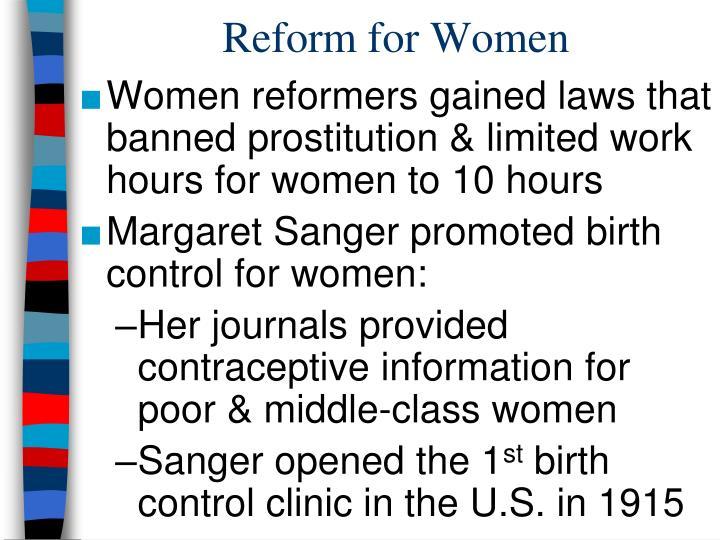Reform for Women