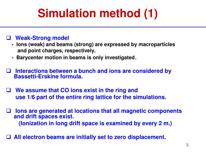 Simulation method (1)