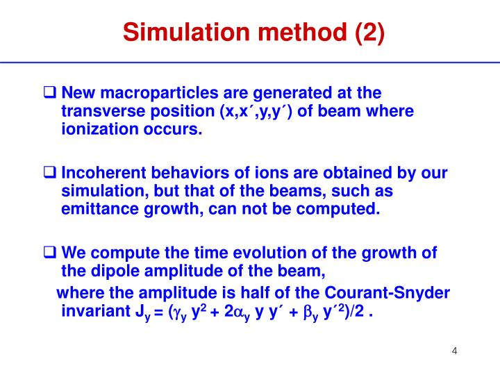 Simulation method (2)