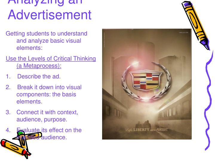 Analyzing an Advertisement