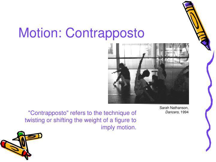 Motion: Contrapposto