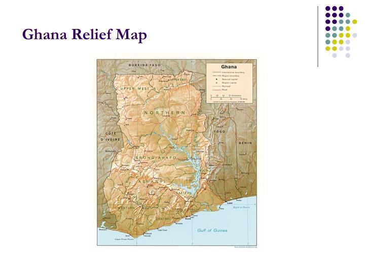 Ghana Relief Map