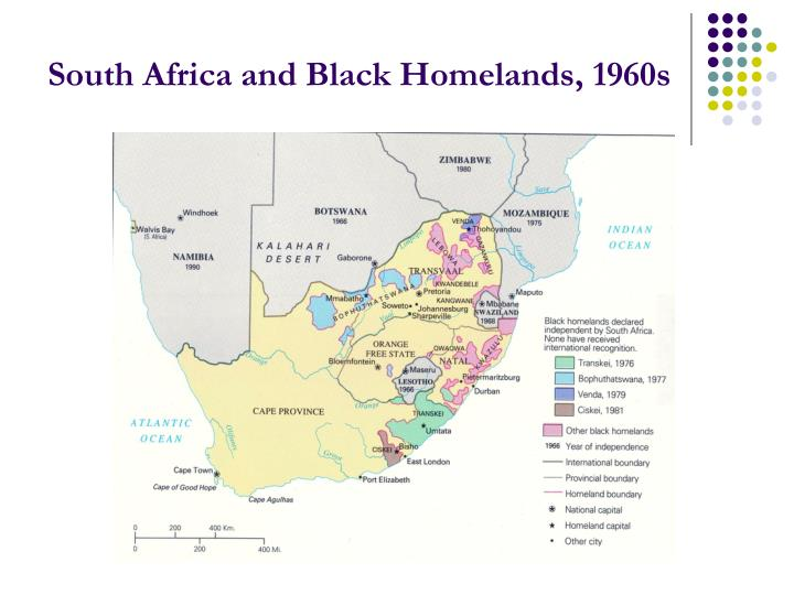 South Africa and Black Homelands, 1960s