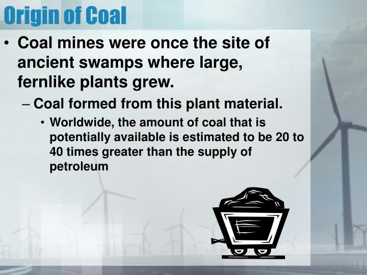 Origin of Coal