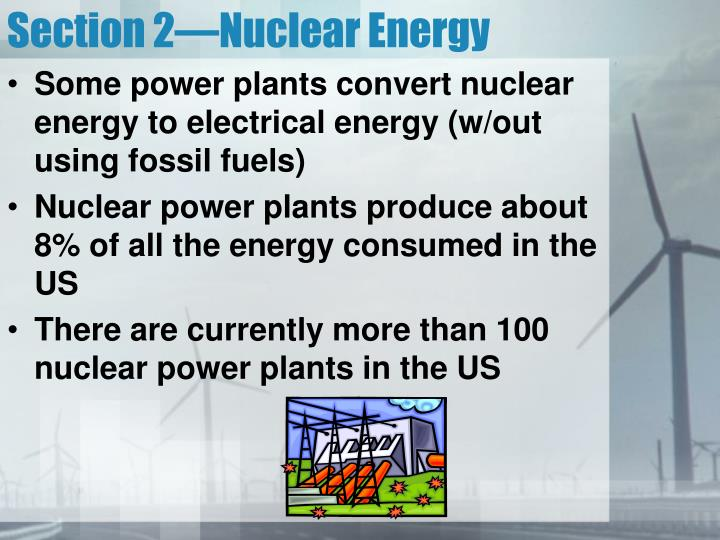 Section 2—Nuclear Energy