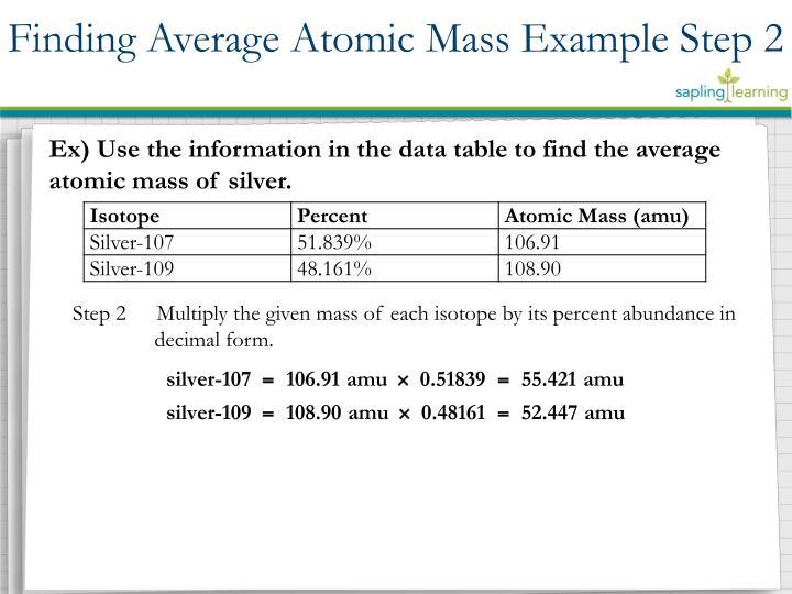 Finding Average Atomic