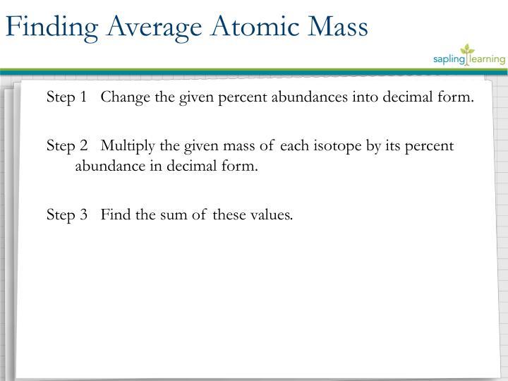 Finding Average Atomic Mass