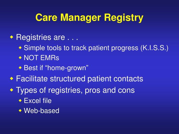 Care Manager Registry