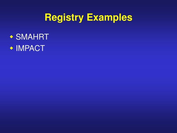Registry Examples