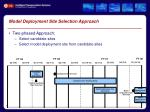 model deployment site selection approach