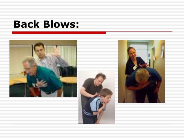 Back Blows: