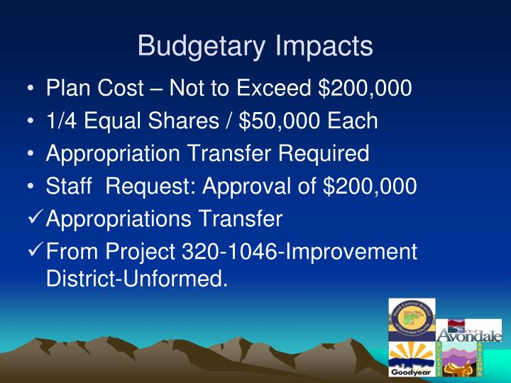 Budgetary Impacts