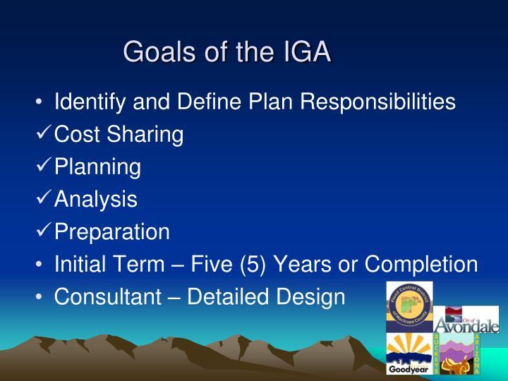 Goals of the IGA