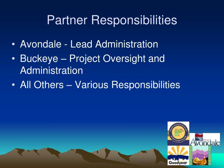 Partner Responsibilities