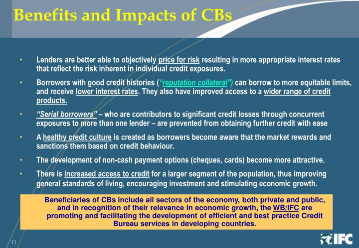 Benefits and Impacts of CBs
