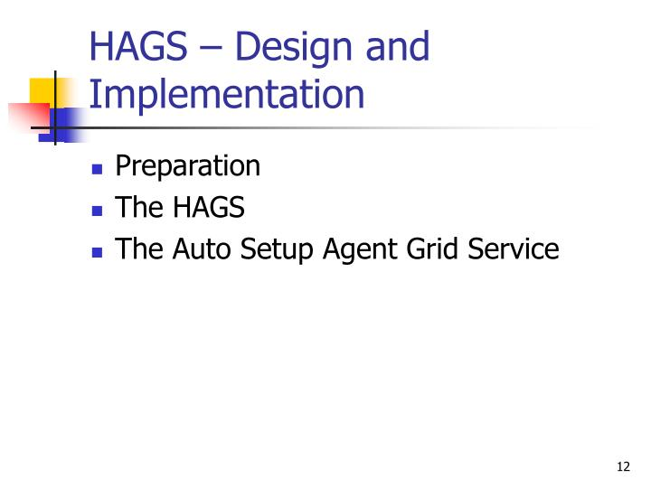 HAGS – Design and Implementation