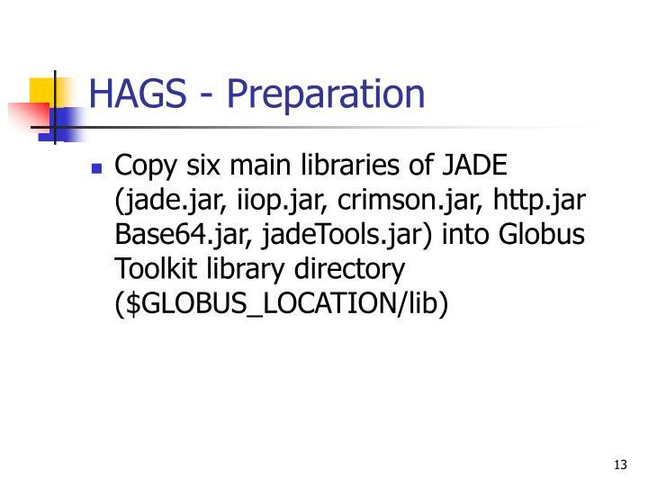 HAGS - Preparation