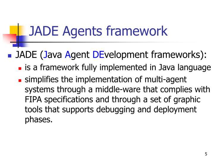 JADE Agents framework