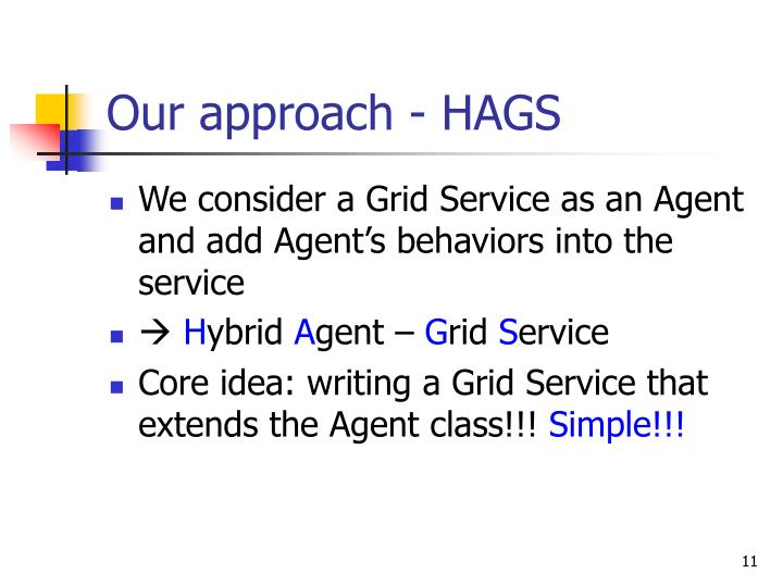 Our approach - HAGS
