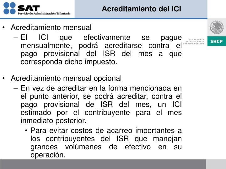 Acreditamiento del ICI