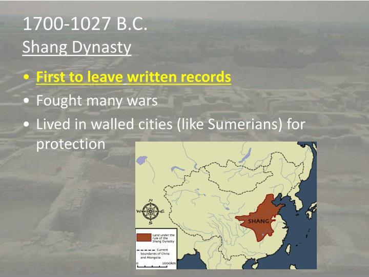 1700-1027 B.C.