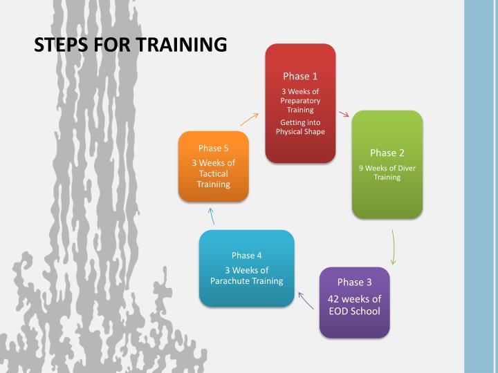 STEPS FOR TRAINING