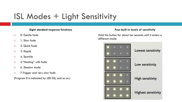 ISL Modes + Light Sensitivity