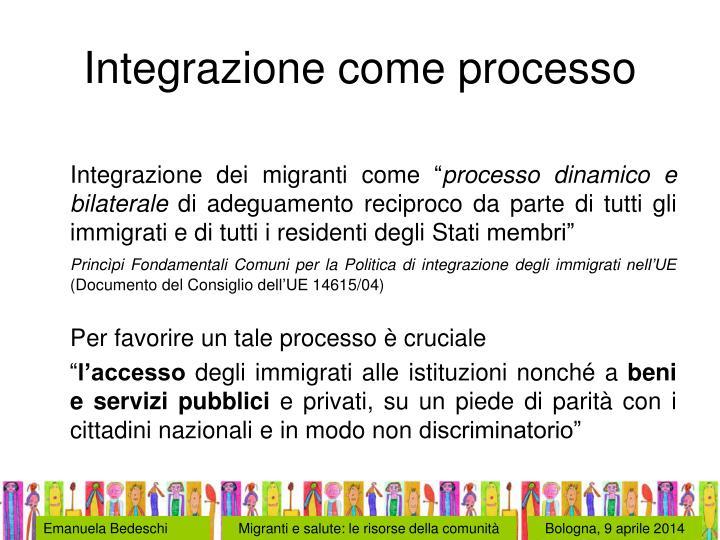 Integrazione come processo
