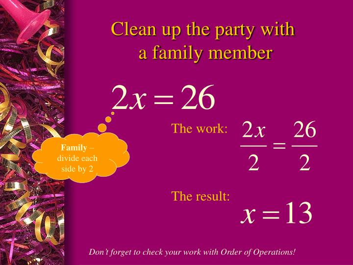Clean up the party with