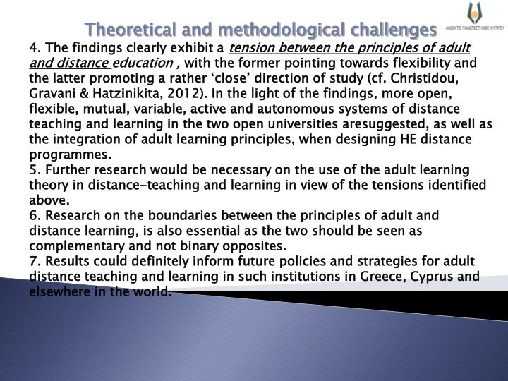 Theoretical and methodological challenges