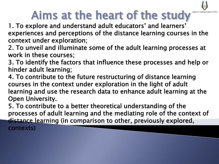 Aims at the heart of the study