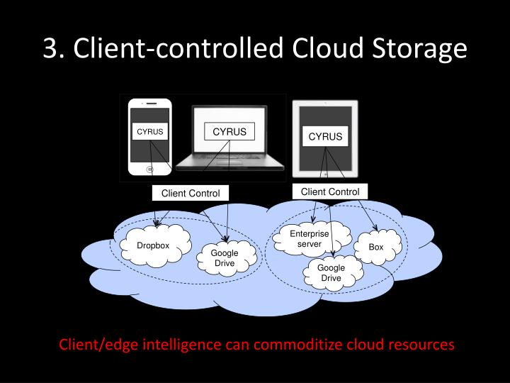 3. Client-controlled Cloud Storage