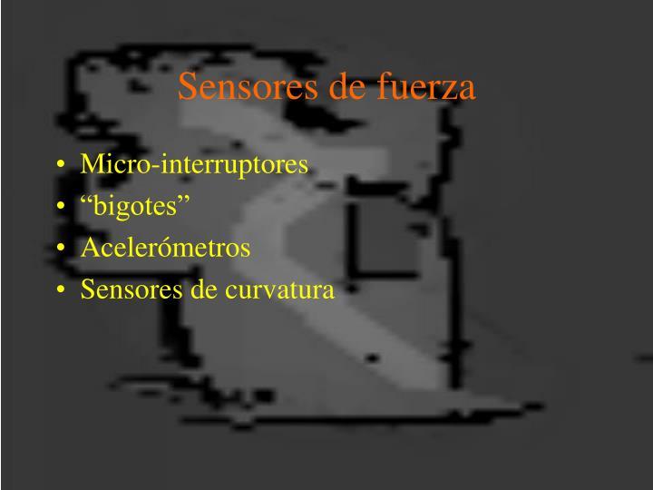 Sensores de fuerza