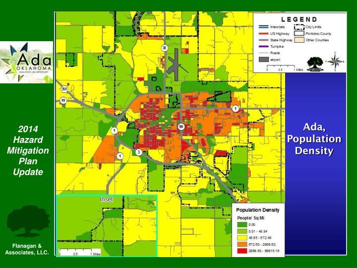 Ada, Population Density