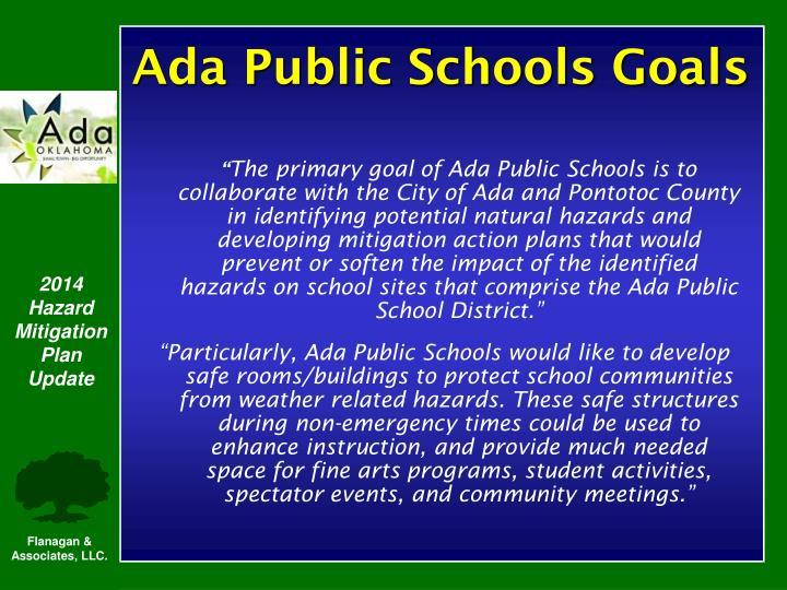 Ada Public Schools Goals