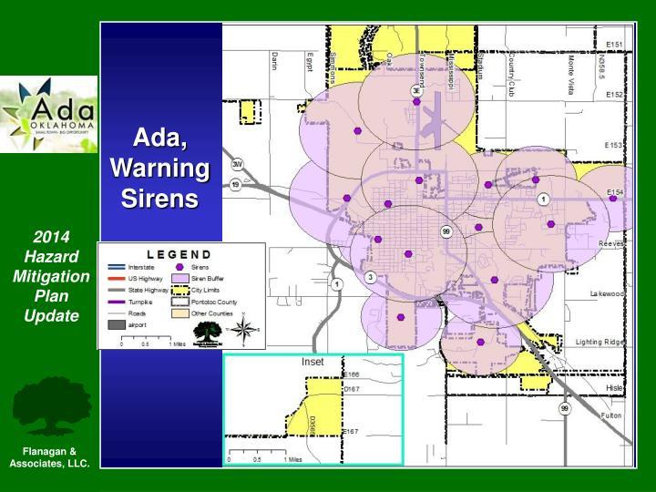 Ada, Warning Sirens