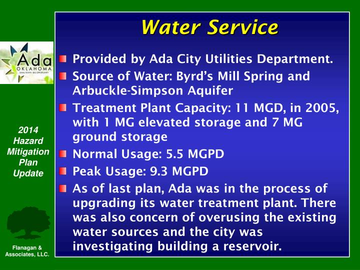 Provided by Ada City Utilities Department.