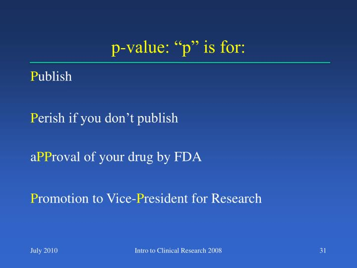 "p-value: ""p"" is for:"