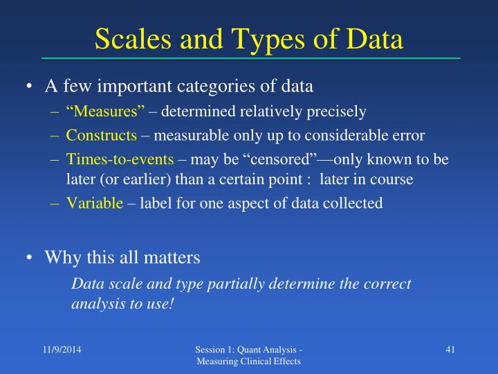 Scales and Types of Data