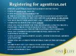 registering for agenttrax net