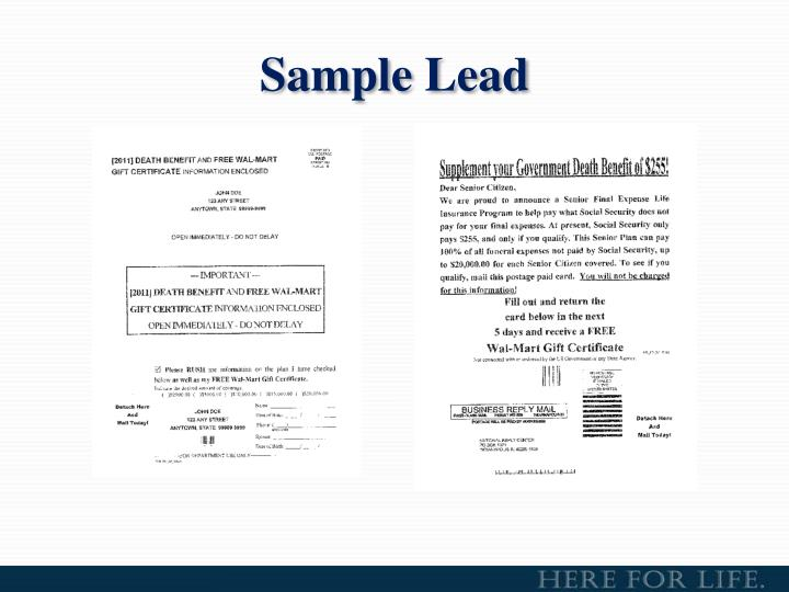 Sample Lead
