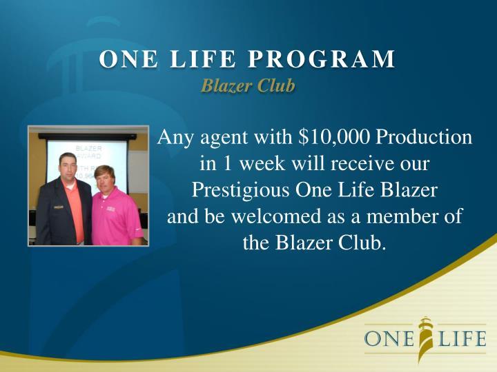 ONE LIFE PROGRAM